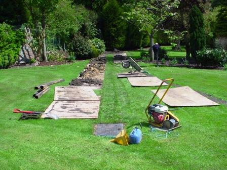 Careful reinstatement of lawn