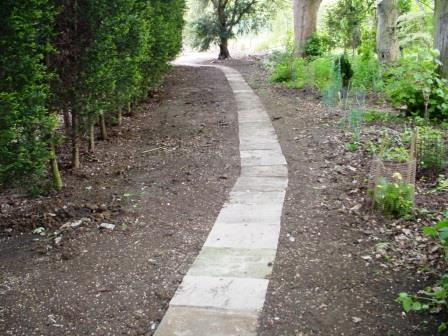 Footpath reinstated ready for seeding